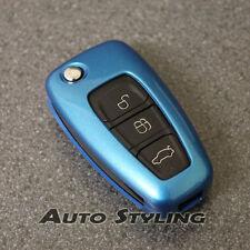 Funda clave para Ford Remoto Protector Flip Piel Hull 2 3 Botón FOB Bolsa 47 *
