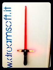 Spada laser Star Wars Kylo Ren light saber luci ROSSO  e suoni  LAMA RETRATTILE