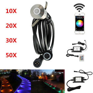 Smart Wifi RGB 22mm 12V Yard Landscape LED Pool Deck Stair Step Lights for Alexa