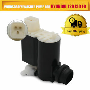Windscreen Washer Pump Front & Rear Twin Outlet For Hyundai Accent I20 I30 Coupe