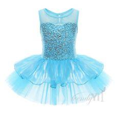 Girl Kid Gymnastic Ballet Leotard Tutu Dress Ballerina Skate Dance Wear Outfit