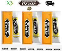 3 x Original Couto Medicinal Toothpaste 60g (2.5 OZ) Fluoride & SLS Free Vegan