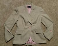 Isabel Nina Women's Size 2 Small Blazer Lined Career Jacket Brown Pink EUC Chic
