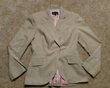 Isabel & Nina Women's Size 2 Work Blazer Lined Career Jacket Brown Pink EUC Chic