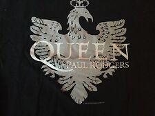 Queen Shirt Black Size Medium Adult + Paul Rodgers 2005 Tour Shirt mint
