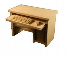 Puppenstube Miniatur - PC Tisch Computertisch Holz natur 1:12