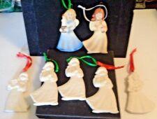 7 Collectible Goebel Germany Hanging Angel Christmas Tree Ornaments