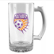 Perth Glory A-league 500ml Glass Logo Stein