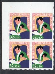 ALLYS US Plate Block Scott #3125 32c Children Learn [4] MNH OG F/VF [STK]