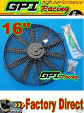 """1x 16"""" inch Universal Electric Radiator RACING COOLING Fan +mounting kit new GPI"""