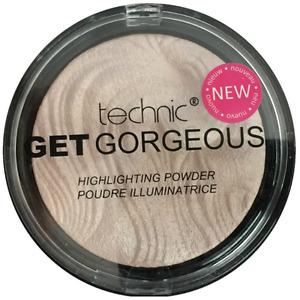 Technic Get Gorgeous Highlighting Powder, Bronze, Peach Candy, Pink Sparkle Gold