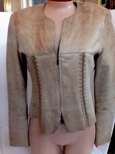 Giorgio Armani Jacket Tan Lamb skin With Stitched Seams Size 42(6)