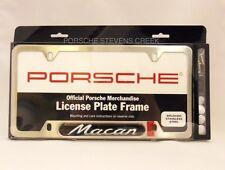 Porsche Macan Brushed License Plate Frame OEM 95B Genuine Porsche Part
