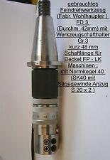 Innenfeindrehwerkzeug D42 SK40 S20x2 Deckel Fräsmaschine Spannwerkzeug FP Drehen