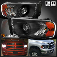 Black 2002-2005 Dodge Ram 1500 03-05 Ram 2500 3500 Retrofit Projector Headlights