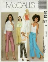 McCalls Sewing Pattern 3192 Misses Low Rise Flared Pants Three Lengths Size 8-12