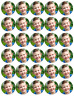 30 x Personalised Photo Cupcake Toppers Edible Wafer Paper Fairy Cake Toppers