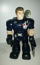 "** RARE Blue Talking Walking Robot - 2003 Happy Kid Toy Group -15"" Works!! **"