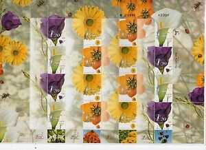 Israel 2001 My Stamp Generic Sheet Lily Flowers MNH!!