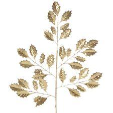 Ilexblatt gold Stechpalmen Zweig 63,5cm - florale Fest- und Weihnachtsdeko