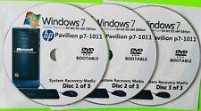 HP Pavilion p7-1011 Factory Recovery Media 3-Discs Set / Windows 7 Home 64bit