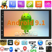 """Double 2 Din Car Stereo Radio 7"""" Bluetooth GPS Navi WiFi Android 9.1 MP5 Player"""