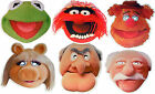 THE MUPPETS MULTIPACK - 6 FUN PARTY FACE MASKS - LICENSED PRODUCT