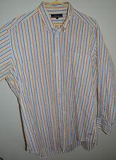 FACONNABLE 100% COTTON DRESS SHIRT, s 17,5 - 7 L, Stripes