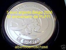 5 euro 2008 Ag Belgio Belgique Belgium Belgien Puffi Smurfen Schtroumpfs Pitufo