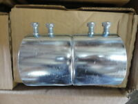 """Case of 20 Hubbell/Raco Steel 2"""" Couplings Cat. No. 2028 NEW! Free Shipping!"""