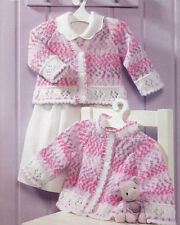 baby child girls cardigans dk knitting pattern 99p