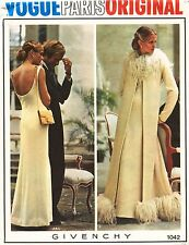 60's VTG VOGUE PARIS ORIGINAL Evening Coat,Jacket&Dress Givenchy Pattern 1042 12