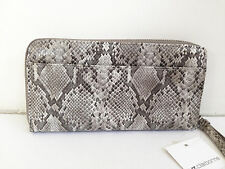 BNWT Authentic LIZ CLAIBORNE Zip Around Clutch Wallet Wristlet in Grey Snake