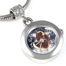 Cavalier King Charles Spaniel Silver Watch European Bracelet Charm Bead EBA106