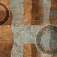 GO I (27x27) and GO II (27x27) by BRENT NELSON 2PC CIRCLES SQUARES CANVAS