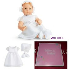 AMERICAN GIRL Bitty Baby Gown & Bonnet Baptismal Baptism Christening NEW Outfit