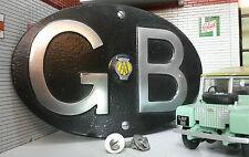 Land Rover Series 1 80 86 107 Cast Aluminium GB AA Touring Tub Badge Replica
