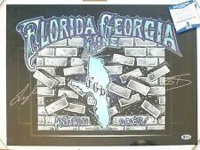 FLORIDA GEORGIA LINE SIGNED TOUR POSTER BECKETT BAS COA AUTOGRAPHED MUSIC FGL