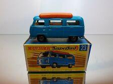 MATCHBOX 23 VW VOLKSWAGEN T2 CAMPER - BLUE - EXCELLENT CONDITION IN BOX