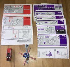 Transformers R.I.D Firebot Dive Bomb & Instructions Evacuate Override Buzzsaw?
