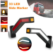 2PCS Car LED Side Marker Lights Outline Lamp Parts For Trailer Truck Van 12-24V