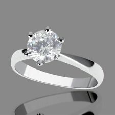 Engagement Very Good Cut Natural SI1 Fine Diamond Rings