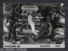 PRESS - FOTO/PHOTO/PICTURE - Hyundai Scoupe 1993 Engine