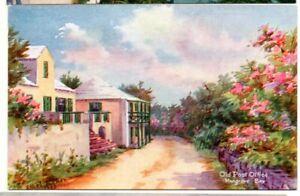 "Bermuda ""Old Post Office Mangrove Bay"" Ethel Tucker postcard #63"