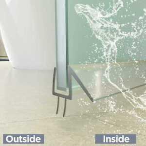 Shower Door PVC Water Seal Strip, Length:1000mm (Suit 6mm/10mm glass) II