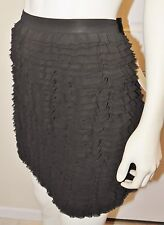 NWT $150 ! !  Michael Kors SKIRT Black Ruffle NEW Size 12 mini