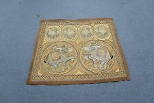 "Antique Thailand Burma Embroidery Kalaga Tapestry Elephants Sequins 32"" x 38"""