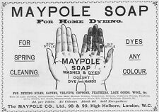MAYPOLE SOAP for Home Dyeing - Victorian Advert 1897