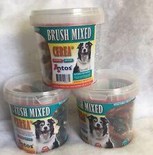 Antos Cerea XS Mini Tooth Brushes Mixed ~ 3 Tubs x 50 pcs ~ Vegetarian Dog Chews