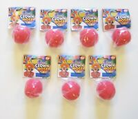 7 NEW RED CLOWN NOSES FOAM CLOWN NOSE COSTUME ACCESSORY BIRTHDAY PARTY FAVORS